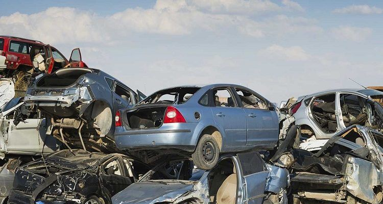 What happens to a car at the scrapyard?